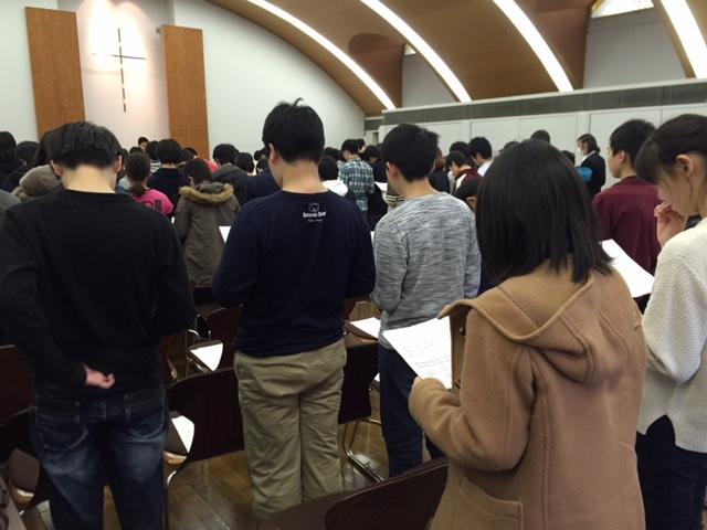 全体礼拝に参加