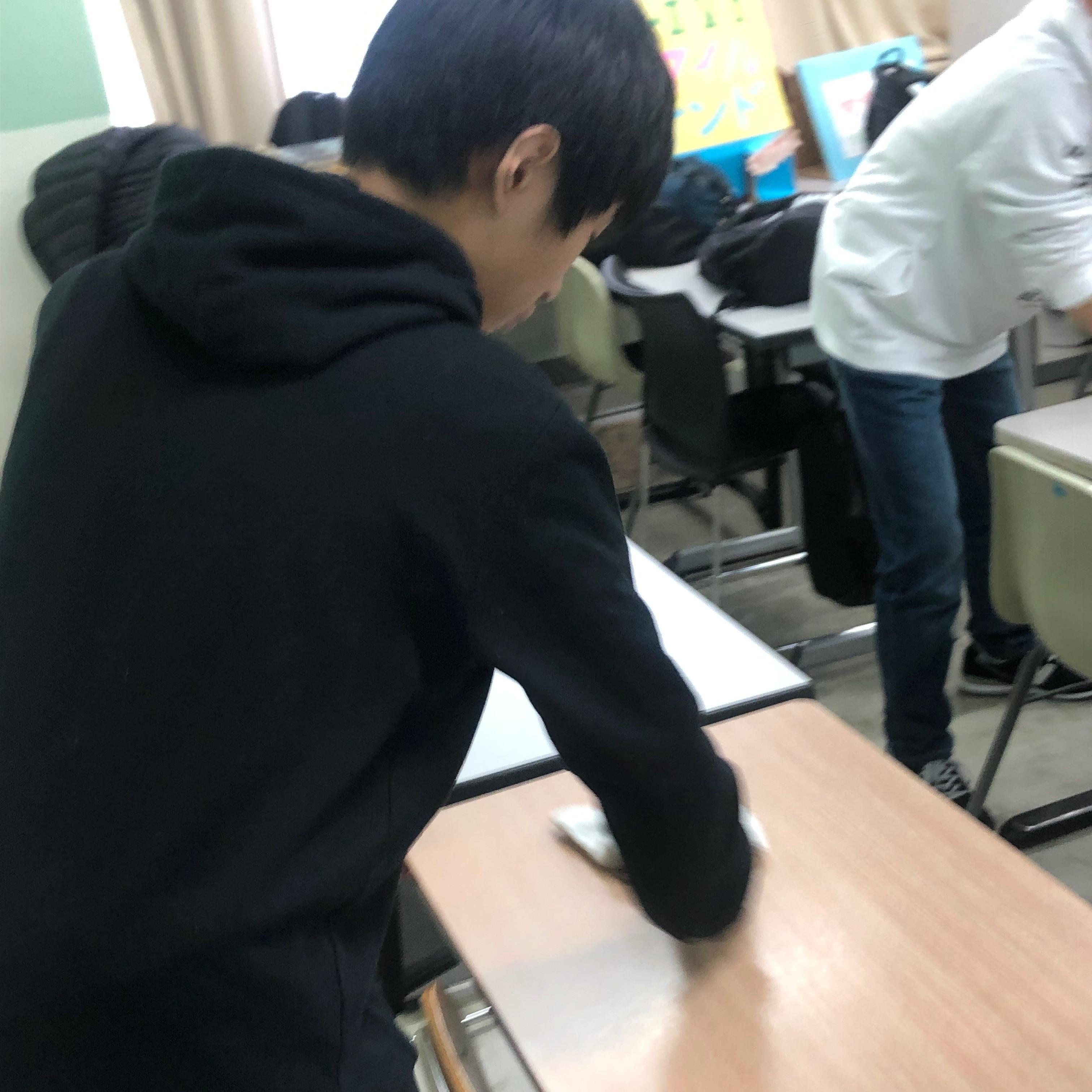 教室をきれいに!